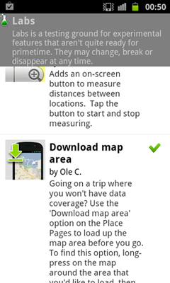 Android Google Maps offline caching on