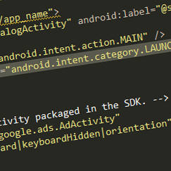 Admob for Android gives error on AdActivity android:configChanges